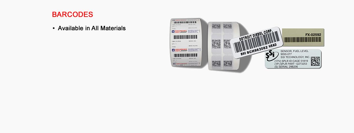Barcodes / Data Matrix / Serialized